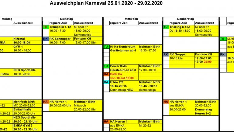 Sperrung Mehrfachhalle Sportzentrum 25.01. – 27.02.2020