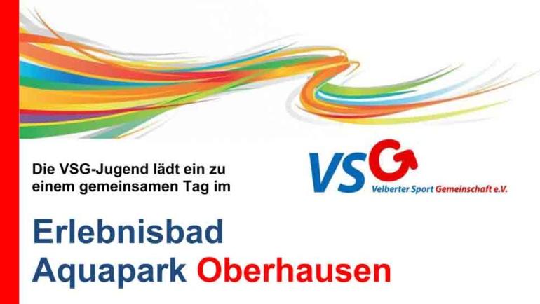 Die VSG-Jugend fährt in den Aquapark-Oberhausen