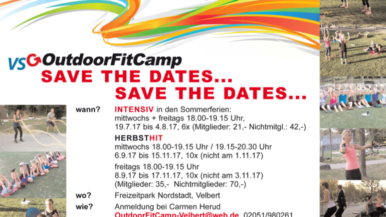 OutdoorFitCamp –  Save the Dates