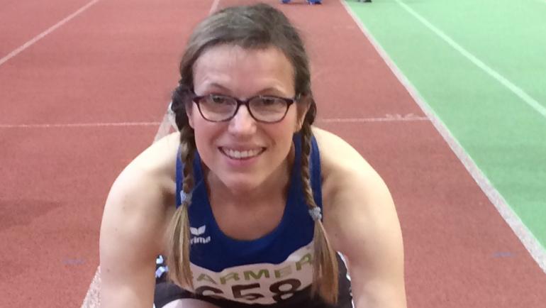 Nicole vom Hove Vizemeisterin bei Seniorenmeisterschaften der Leichtathleten