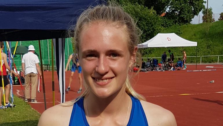 Stina Goldau bei den Deutschen U20 mit tollem 15. Platz